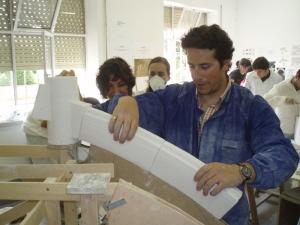 Alumno con Dovelas sobre cimbra boveda